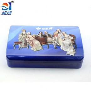 深圳厂家电动牙刷铁盒包装定制 通用铁盒包装 蓝色铁盒包装生厂家