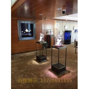 奢侈品会所展柜,珠宝展柜,饰品玻璃货架,不锈钢定制,谷德制造