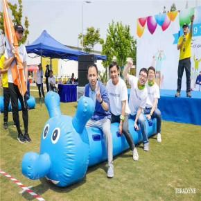 上海奥佰锐充气毛毛虫滑梯城堡趣味玩具趣味竞赛娱乐设备租赁