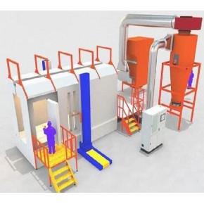 大同大型喷粉回收设备 天之助专业喷漆设备