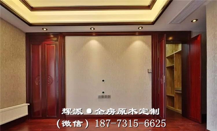 株洲中式原木定制原木衣柜、原木餐边柜定做产品工艺