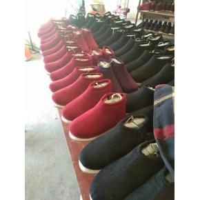 純手工拉鏈棉鞋
