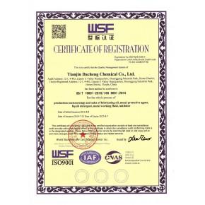 热烈庆贺大成化学顺利通过ISO 9001/ISO 14001质量管理体系年审认证