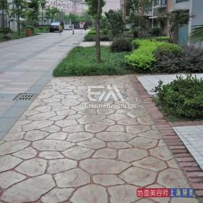 体育场馆室外混凝土彩色压模地坪施工、材料销售