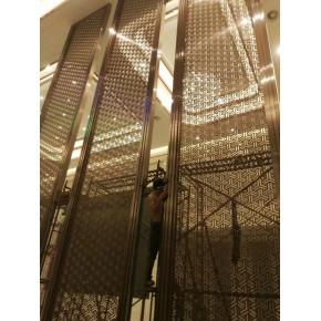 彩色不锈钢装饰屏風-不锈钢装饰屏風花格-酒店大厅装饰