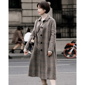 中國風服裝進貨钰森系雙面羊毛羊絨呢大衣女