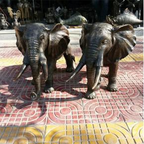 铜大象 昌宝祥铜雕厂家 2米铜大象