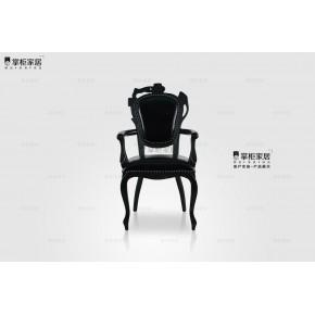 掌櫃家居黑色焚迹-碳椅(小)