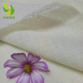 40s支普梳純棉雙層小方格紗布面料浴巾坯布價格多少錢