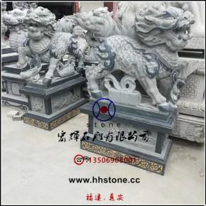 福建惠安工艺石雕麒麟总高5.8尺
