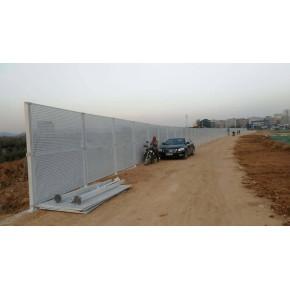 珠海工地冲孔围挡价格 阳江冲孔板护栏 2.5米高白色烤漆围挡厂家