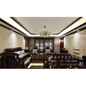 长沙高端原木定制保护、原木书柜、护墙板定制项目