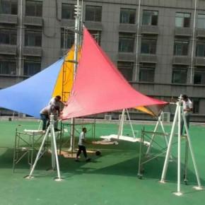 浙江省杭州市制作PVD膜结构停车棚厂家旗冉供应价格