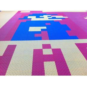 篮球场悬浮地板 户外拼装运动地板 防晒防雨淋 运动性能好