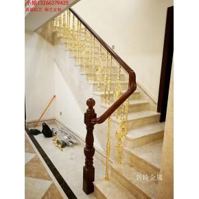 铜艺欧式雕花楼梯扶手 安装旋转铜艺楼梯新感受