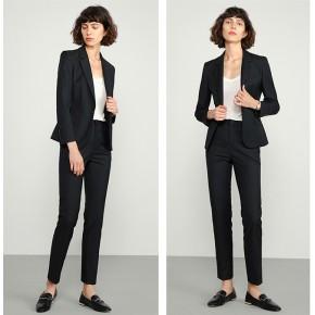 新款男女式西装OL通勤款西服职业修身弹性外套西装男女
