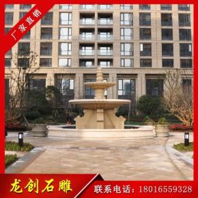 惠安石雕喷泉厂家 大型水钵景观